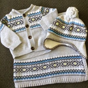 Carter's boys sweater set, mixed sizes